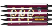 Washington Redskins Pens Click Style 5 Pack