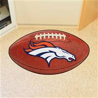 "NFL - Denver Broncos Football Mat 20.5""x32.5"""