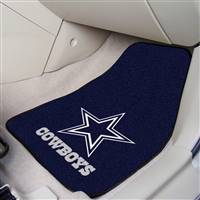 "Dallas Cowboys 2-Piece Carpeted Car Mats 18""x27"""