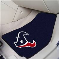 "Houston Texans 2-piece Carpeted Car Mats 18""x27"""