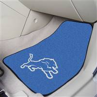 "Detroit Lions 2-piece Carpeted Car Mats 18""x27"""