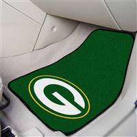 "Green Bay Packers 2-piece Carpeted Car Mats 18""x27"""