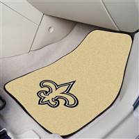 "New Orleans Saints 2-Piece Carpeted Car Mats 18""x27"""