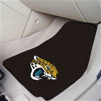 "Jacksonville Jaguars 2-piece Carpeted Car Mats 18""x27"""