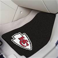 "Kansas City Chiefs 2-piece Carpeted Car Mats 18""x27"""