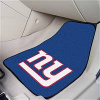 "New York Giants 2-Piece Carpeted Car Mats 18""x27"""