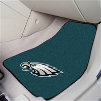"Philadelphia Eagles 2-Piece Carpeted Car Mats 18""x27"""