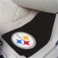"Pittsburgh Steelers 2-piece Carpeted Car Mats 18""x27"""