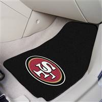 "San Francisco 49ers 2-Piece Carpeted Car Mats 18""x27"""