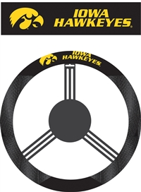 Iowa Hawkeyes Steering Wheel Cover (Poly-Suede)