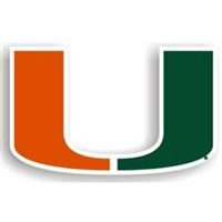 Miami Hurricanes NCAA 12 Car Magnet""