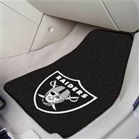 "Oakland Raiders 2-piece Carpeted Car Mats 18""x27"""