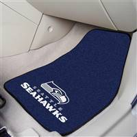 "Seattle Seahawks 2-piece Carpeted Car Mats 18""x27"""