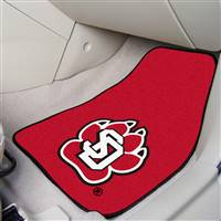 "University of South Dakota 2-pc Carpet Car Mat Set 17""x27"""