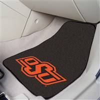 "Oklahoma State University 2-pc Carpet Car Mat Set 17""x27"""