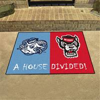 "House Divided - North Carolina / NC State House Divided Mat 33.75""x42.5"""