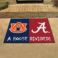"Alabama - Auburn 34""x45"" House Divided Rug"
