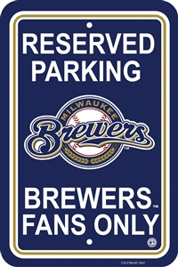 Milwaukee Brewers Plastic Parking Sign