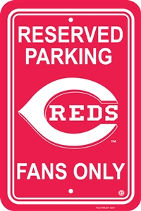 Cincinnati Reds Plastic Parking Sign