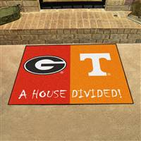 "House Divided - Georgia / Tennessee House Divided Mat 33.75""x42.5"""