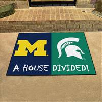 "House Divided - Michigan / Michigan State House Divided Mat 33.75""x42.5"""