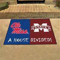 "House Divided - Mississippi / Mississippi State House Divided Mat 33.75""x42.5"""