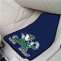"Notre Dame Fighting Irish 2-piece Carpeted Car Mats 18""x27"""