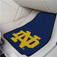 "Notre Dame Irish 2-piece Carpeted Car Mats 18""x27"""