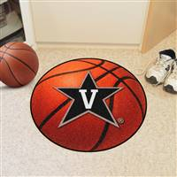 "Vanderbilt Commodores Basketball Rug 29"" diameter"