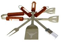 Texas Longhorns 4-Piece BBQ Set