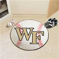 "Wake Forest Demon Deacons Baseball Rug 29"" Diameter"