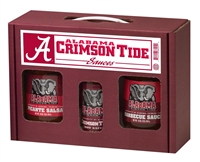 Alabama Crimson Tide TailGate Hot Sauce BBQ Salsa's ( 16oz. Picante, 16oz. BBQ and 5oz. Hot Sauce)
