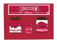 Arkansas Razorbacks TailGate Sauce Set (Hot Sauce, BBQ Sauce and Salsa)