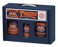 Auburn Tigers TailGate Sauce Set (Hot Sauce, BBQ Sauce and Salsa)
