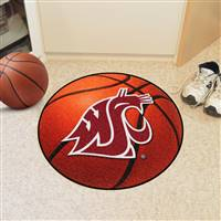 "Washington State Cougars Basketball Rug 29"" diameter"