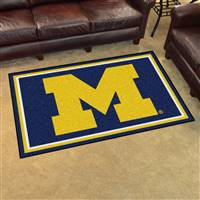 "Michigan Wolverines 4x6 Area Rug 46""x72"""