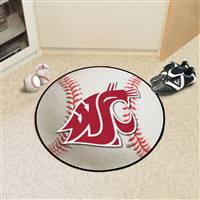"Washington State Cougars Baseball Rug 29"" diameter"