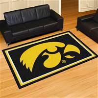 "Iowa Hawkeyes 5x8 Area Rug 60""x92"""
