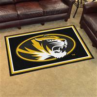 "Missouri Tigers 4x6 Area Rug 46""x72"""