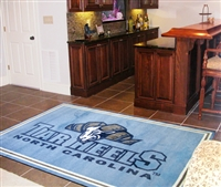 "North Carolina Tar Heels 5x8 Area Rug 60""x92"""