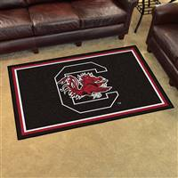 "South Carolina Gamecocks 4x6 Area Rug 46""x72"""