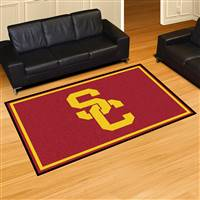 "University of Southern California 5x8 Rug 59.5""x88"""
