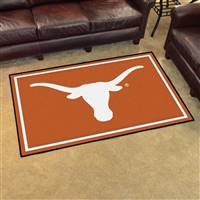 "Texas Longhorns 4x6 Area Rug 46""x72"""