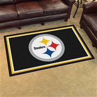 "Pittsburgh Steelers 4x6 Area Rug 46""x72"""