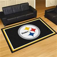 "Pittsburgh Steelers 5x8 Area Rug 60""x92"""