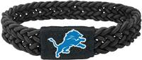 Detroit Lions Bracelet Braided Black