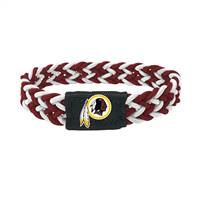 Washington Redskins Bracelet Braided Maroon and White