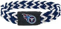 Tennessee Titans Bracelet Braided Navy and White