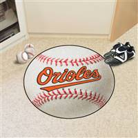 "Baltimore Orioles Baseball Rug 29"" Diameter"