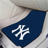 "New York Yankees 2-Piece Carpeted Car Mats 18""x27"""